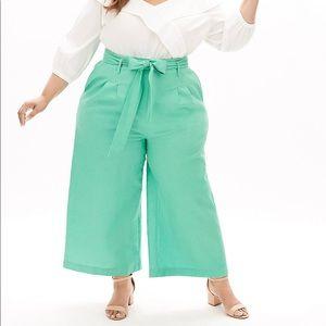 Beauticurve Linen Wide Leg Pant With Belt Size 18